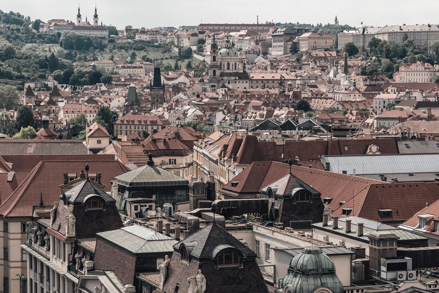 Praag stadsgezicht skyline foto