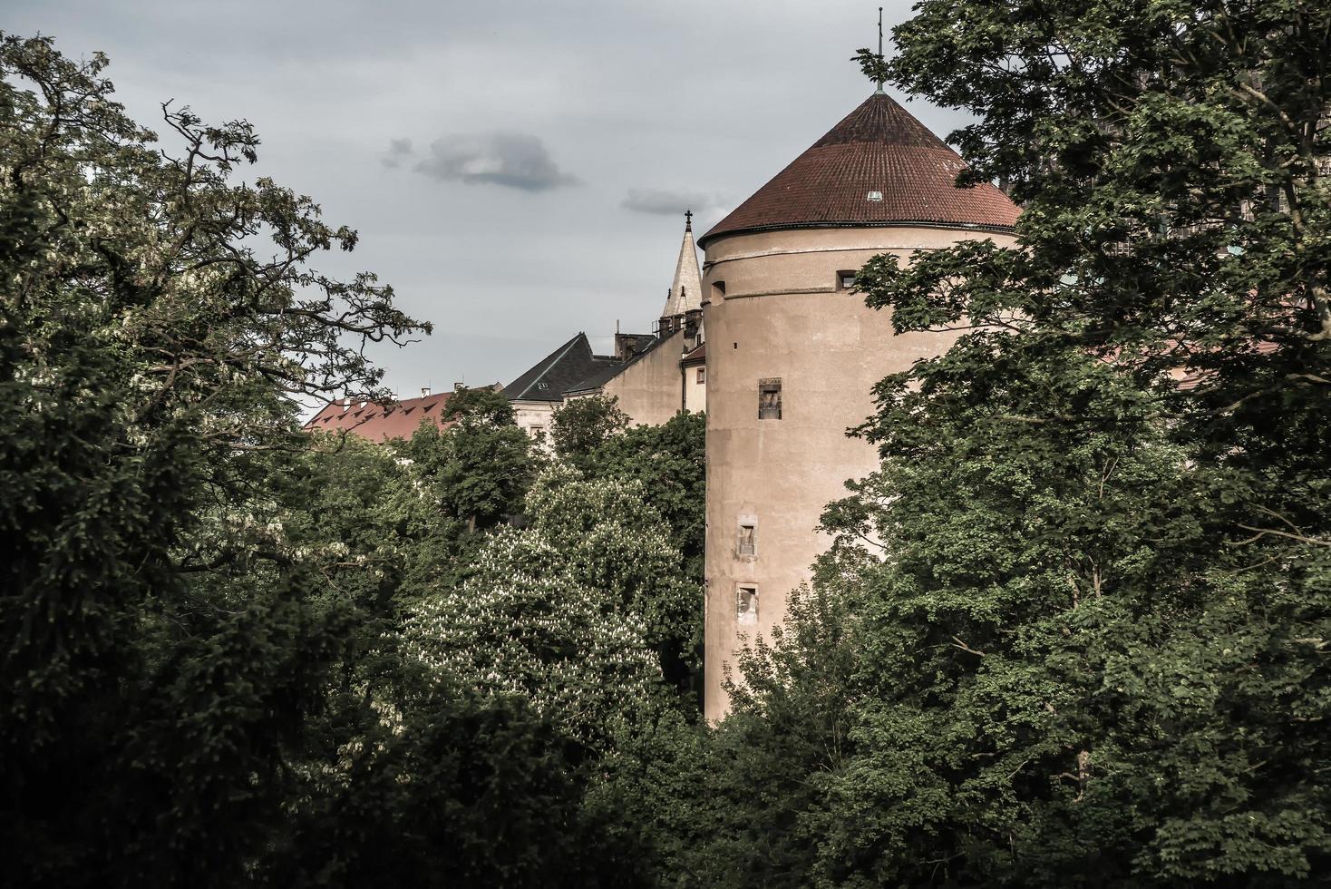 tsjechië 2017 - mihulka - kruittoren bij het kasteel van Praag foto
