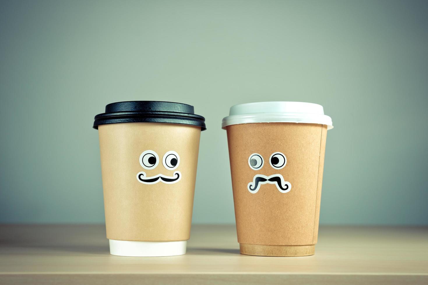 haal koffiekopkarakters weg foto