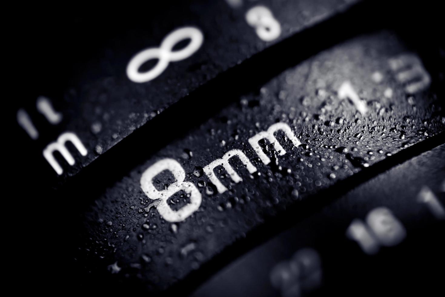 8 mm digitale cameralens foto