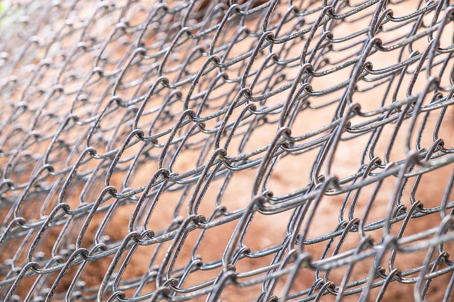close-up van draadomheining foto