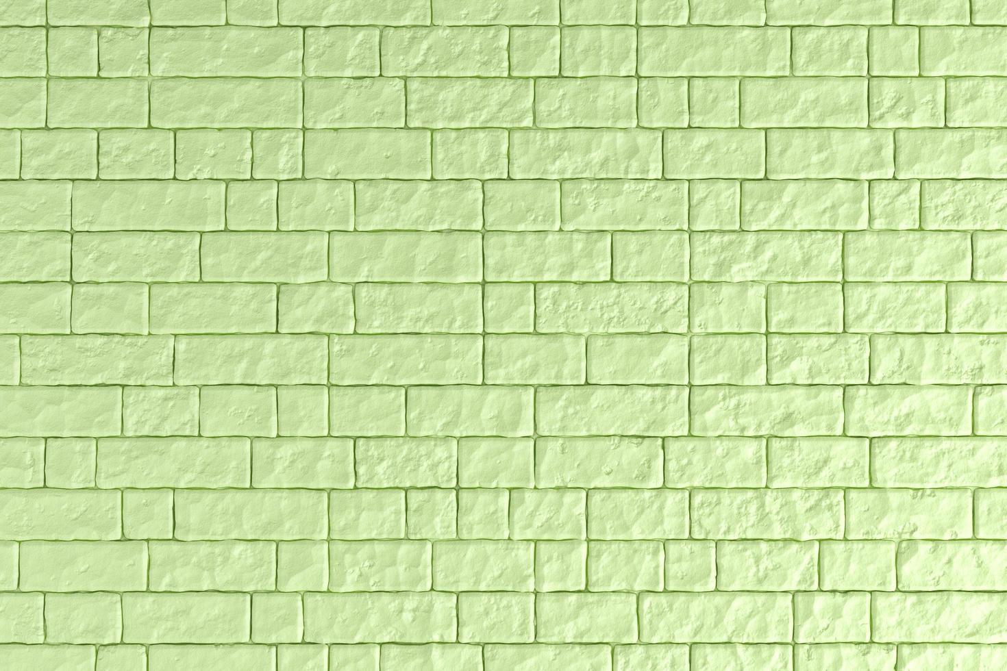 3d illustratie van een groene bakstenen muur foto