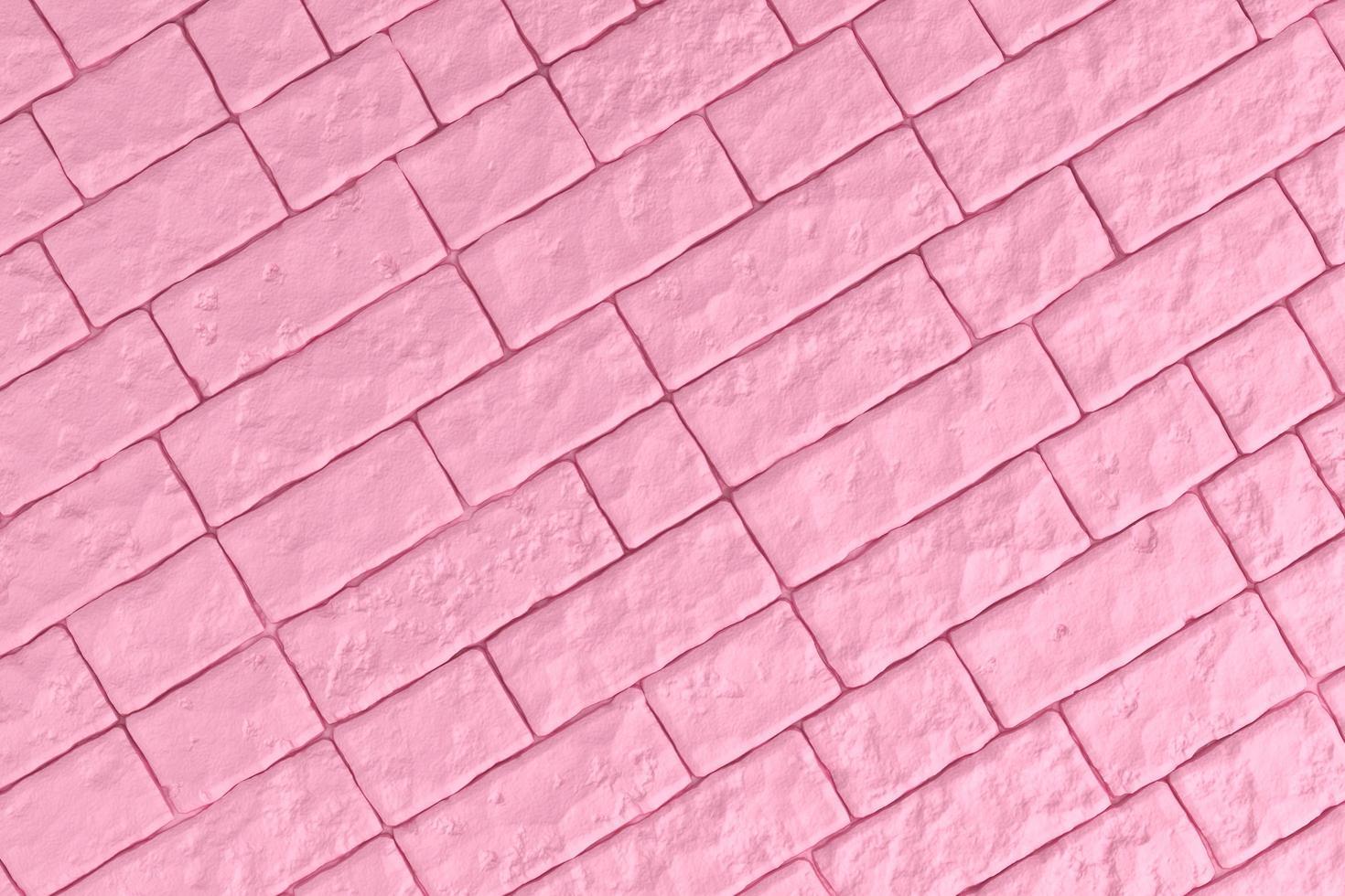 3D-afbeelding van een roze bakstenen muur foto