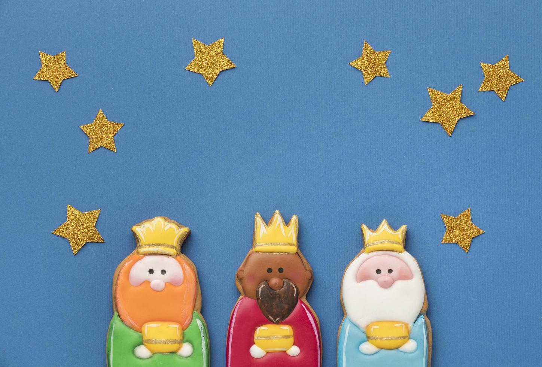 drie koningen met sterren foto