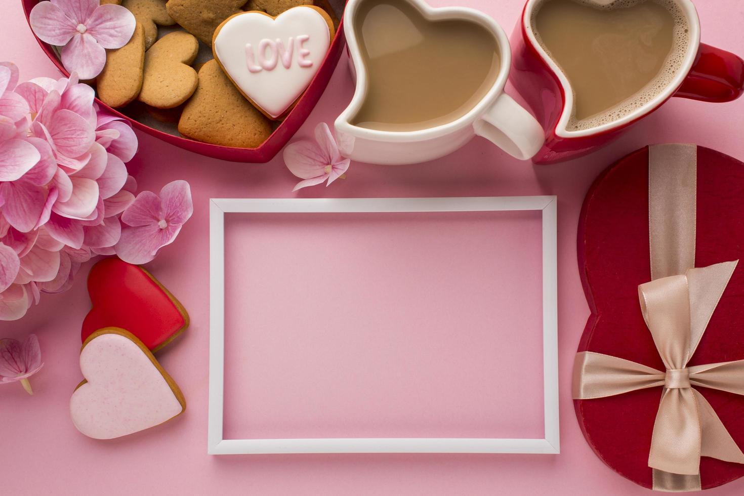 fotolijst en Valentijnsdagitems foto