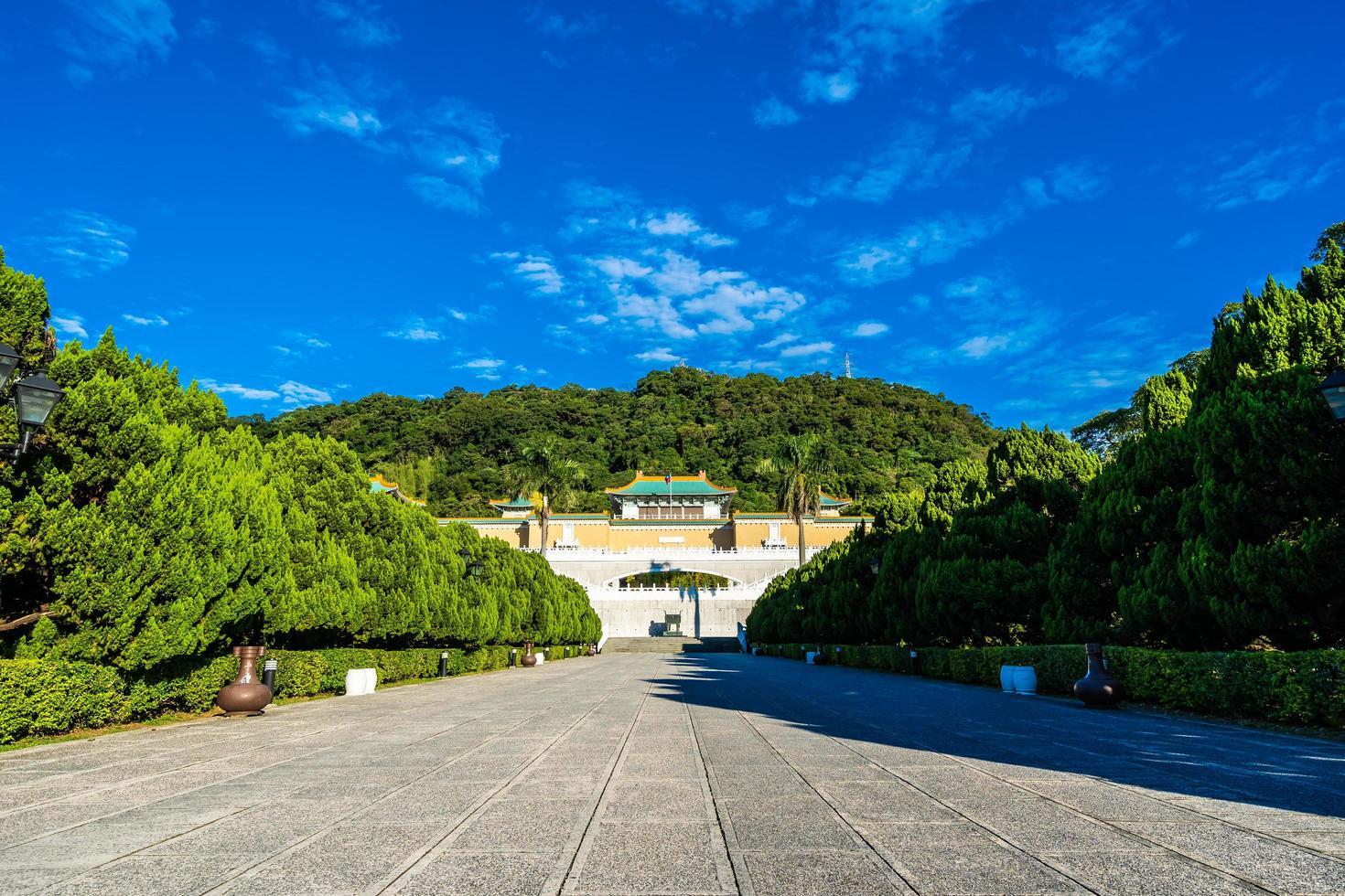 het nationale paleismuseum in de stad Taipei, Taiwan foto