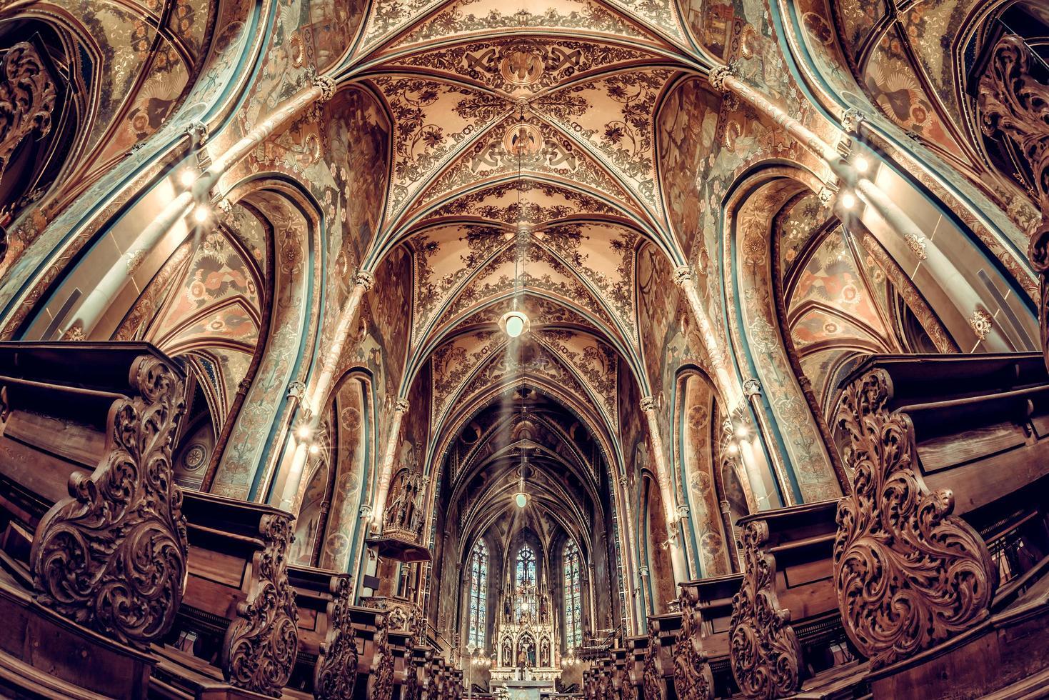 interieur van de basiliek van st. peter en paul foto