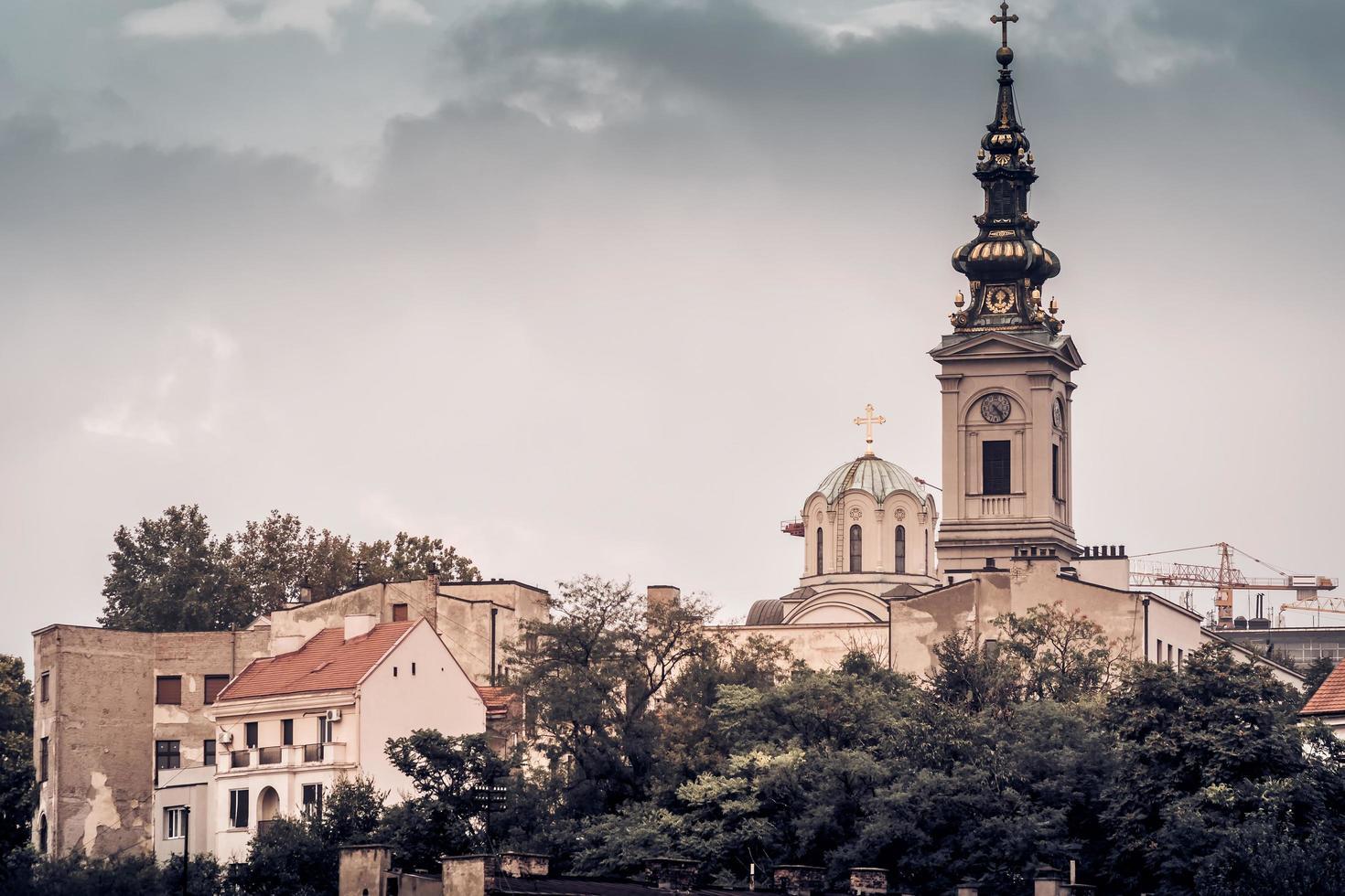 Belgrado, Servië 2015 - Uitzicht op Stari Grad en St. michael's kathedraal foto