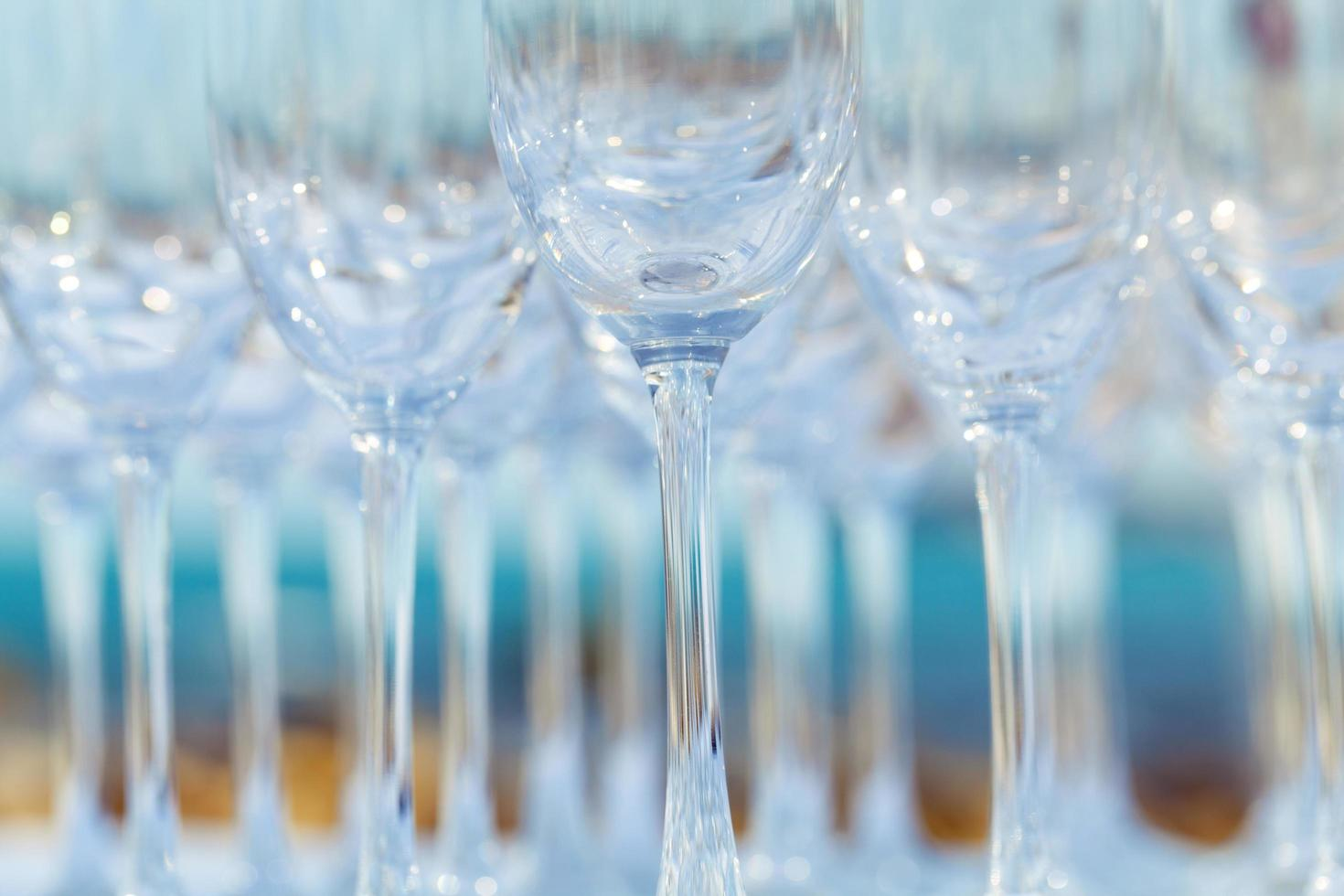 groep wijnglazen foto