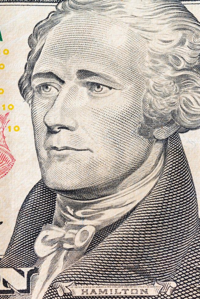 Amerikaans dollarbankbiljet, commercieel en bancair concept foto