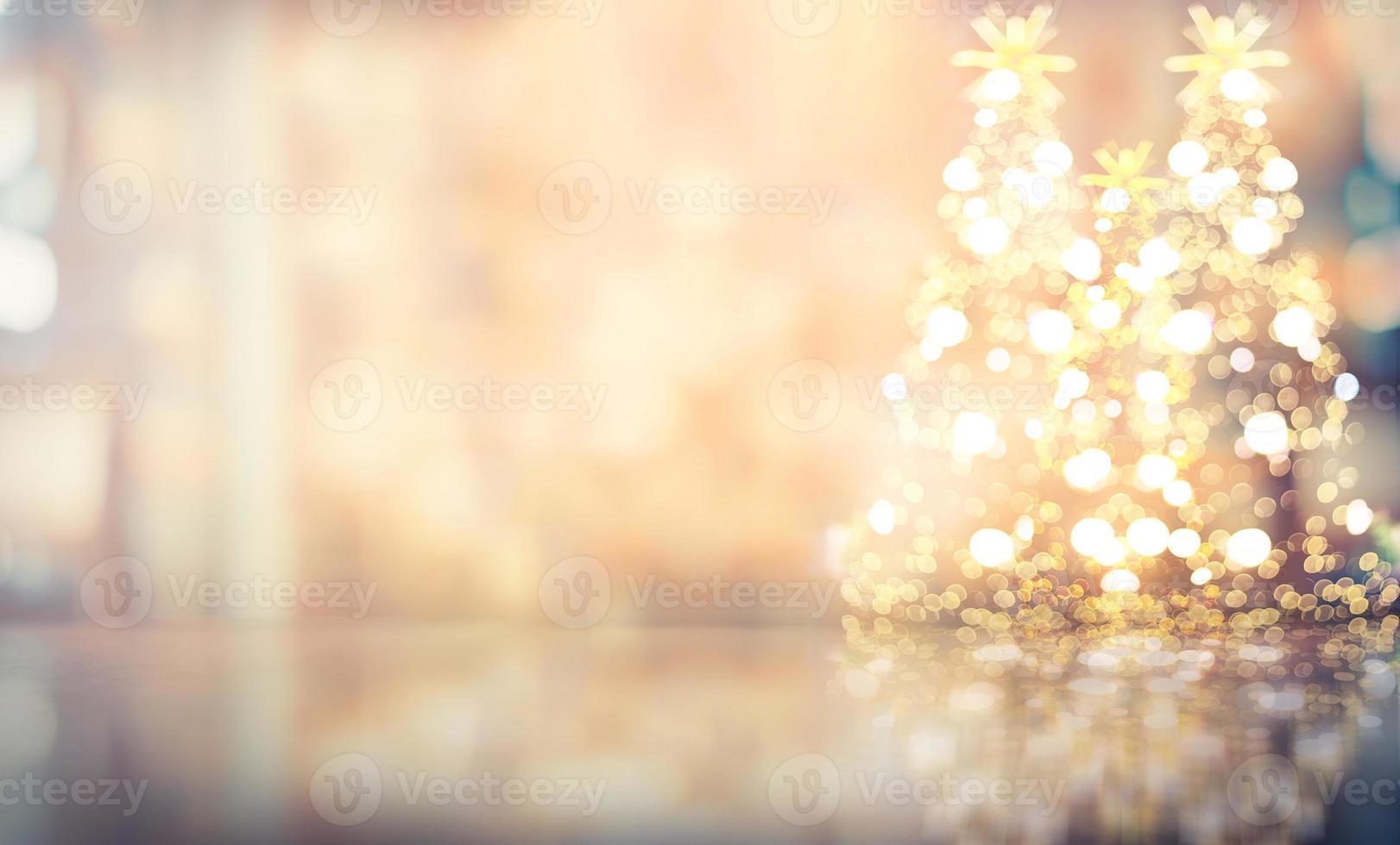 Kerstmis onscherpe achtergrond, warme bokeh zachte kleur met een vintage toon foto