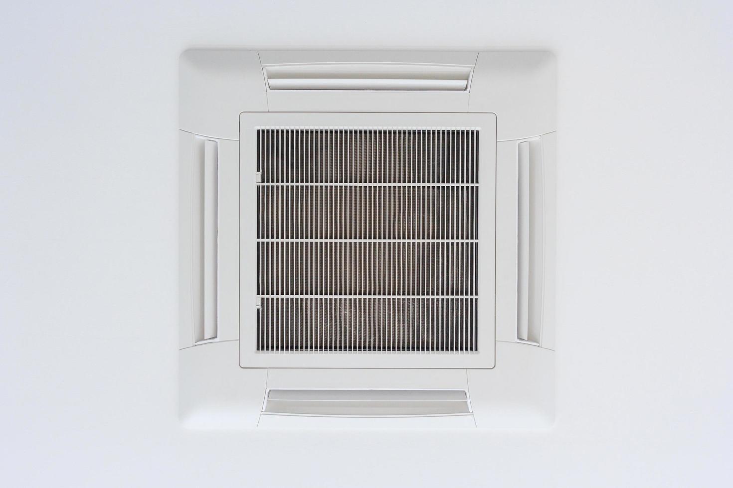 aan het plafond gemonteerde airconditioner van het cassettetype foto