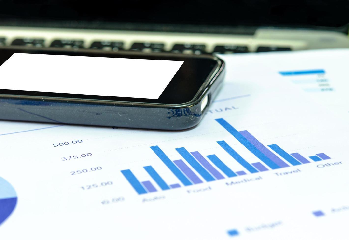 telefoonmodel op grafieken foto