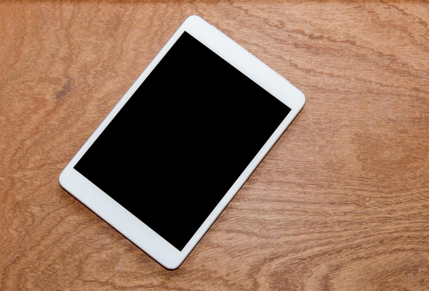 bovenaanzicht van een tablet foto