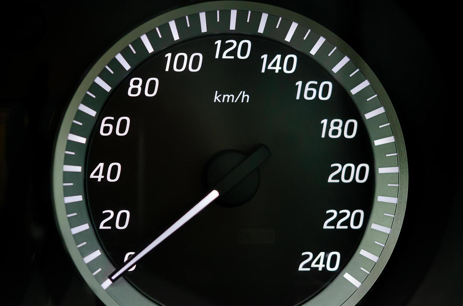 close-up van een snelheidsmeter foto