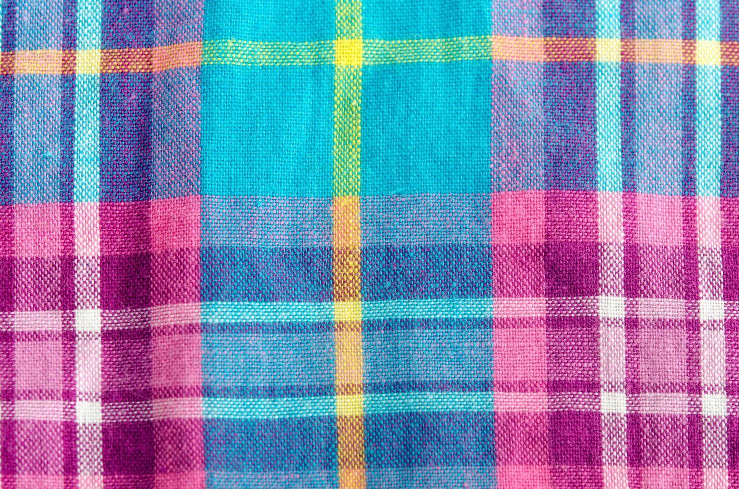 kleurrijke geruite doek foto