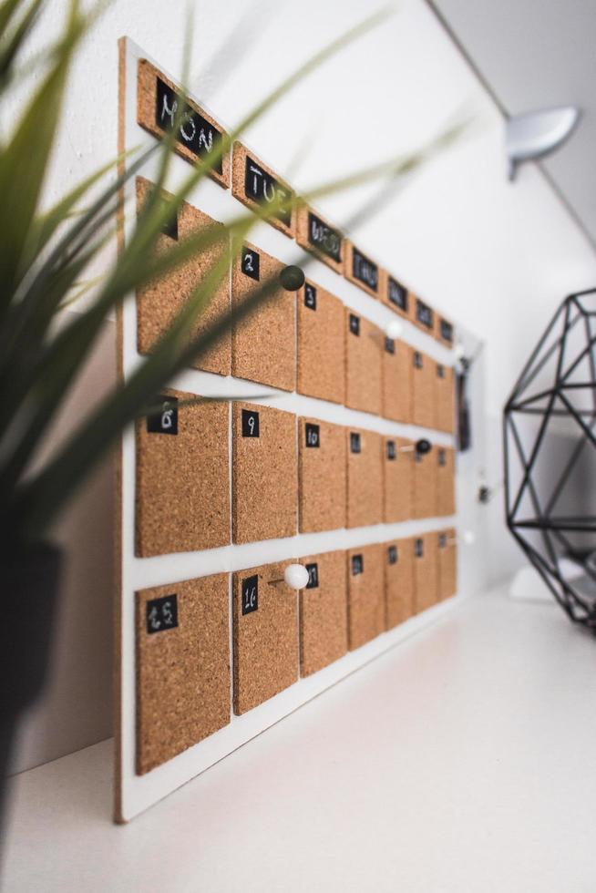 bruine kurk kalender foto