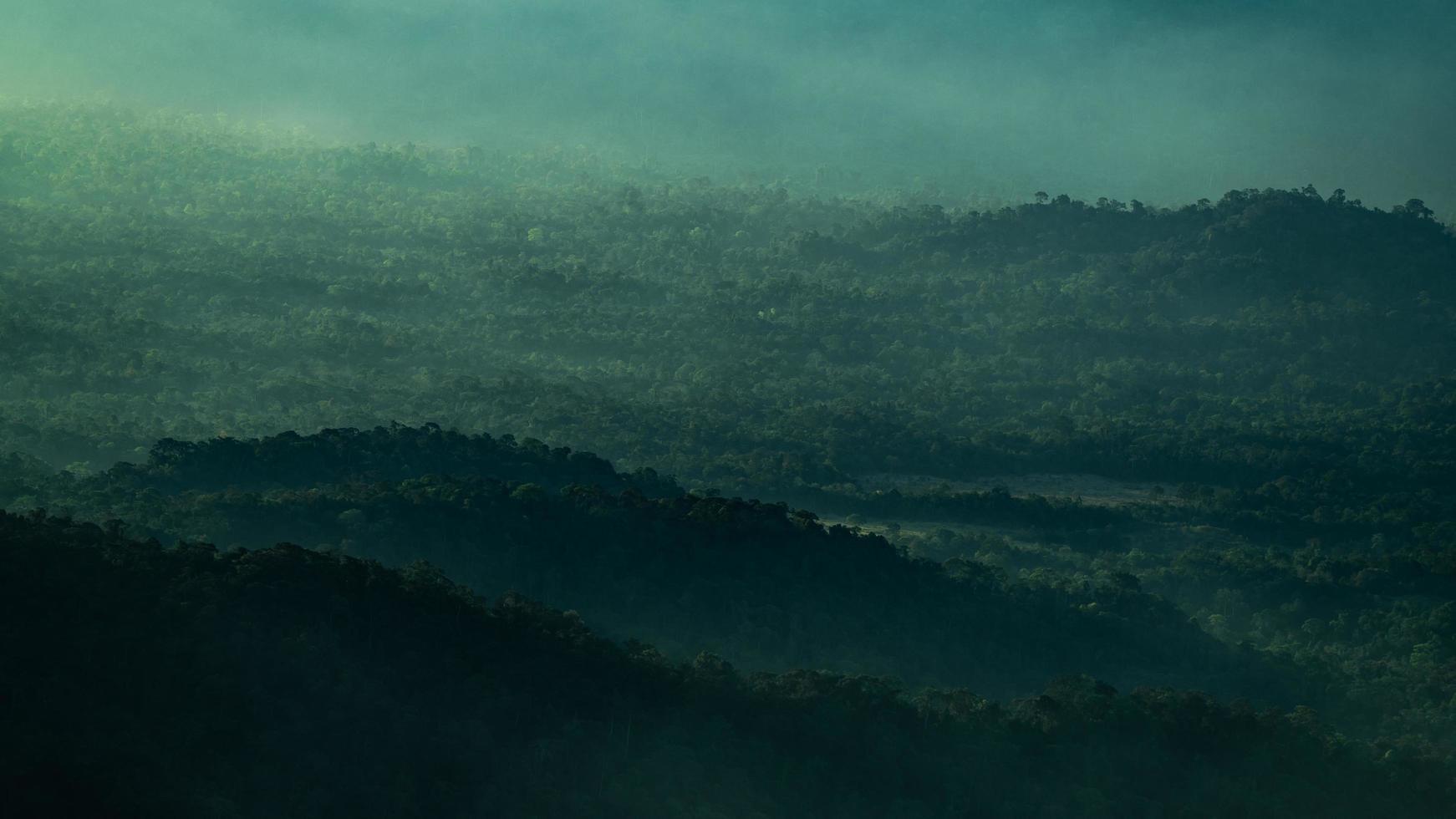 bergen in de schemering foto