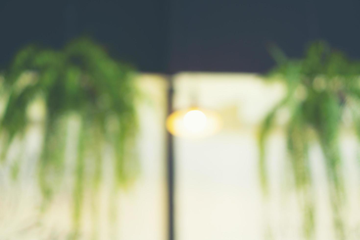 wazig plant en lichte achtergrond foto
