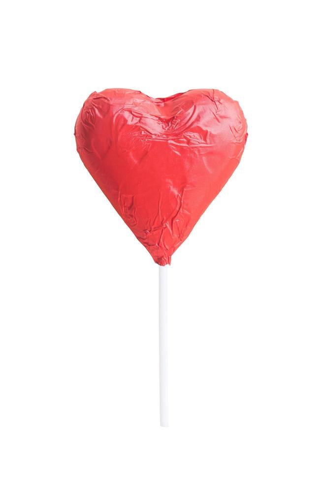 chocolade hart snoep geïsoleerd op een witte achtergrond foto