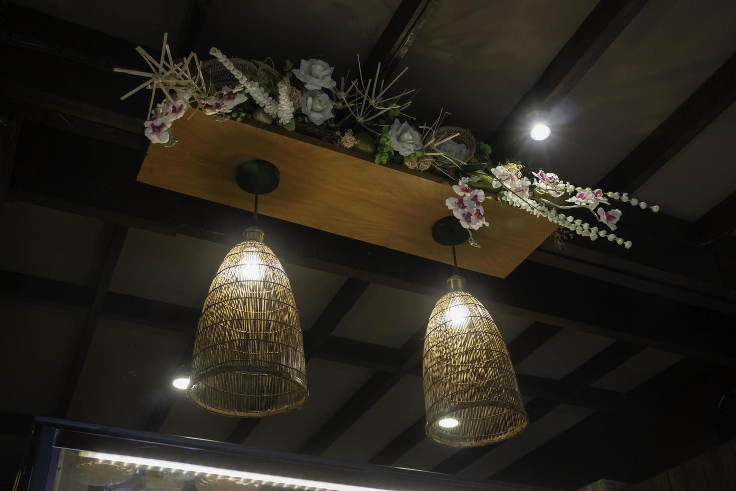 hangende verlichtingsarmaturen foto