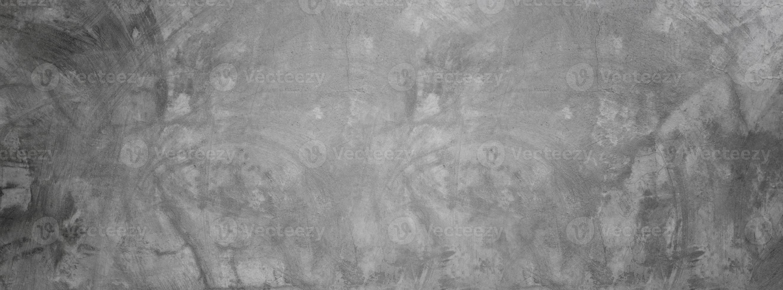 grungy cement textuur muur, grijze betonnen banner achtergrond voor achtergrond foto