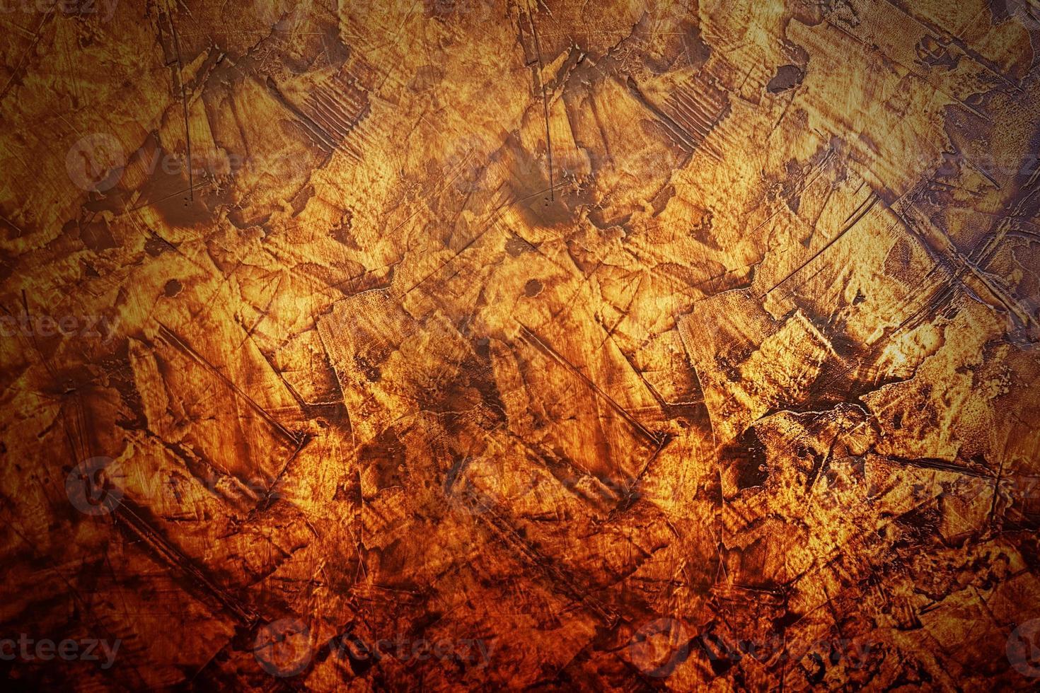 de donkeroranje en gele achtergrond van de cement abstracte textuur foto