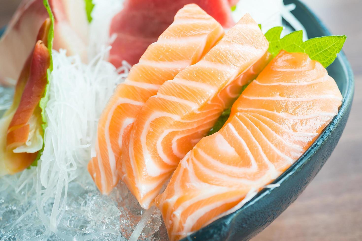 rauwe verse sashimi foto