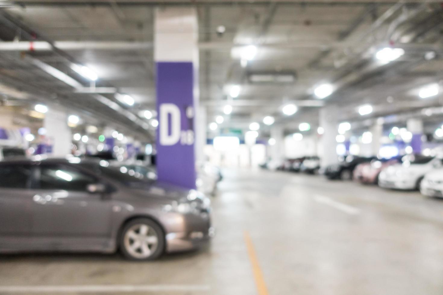 abstracte onscherpte parkeerplaats foto