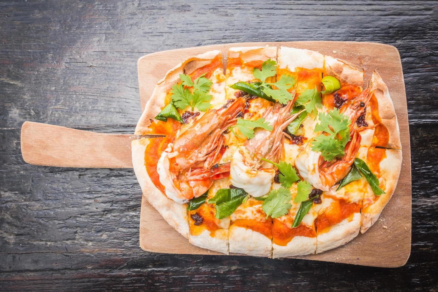 tom yum pizza foto