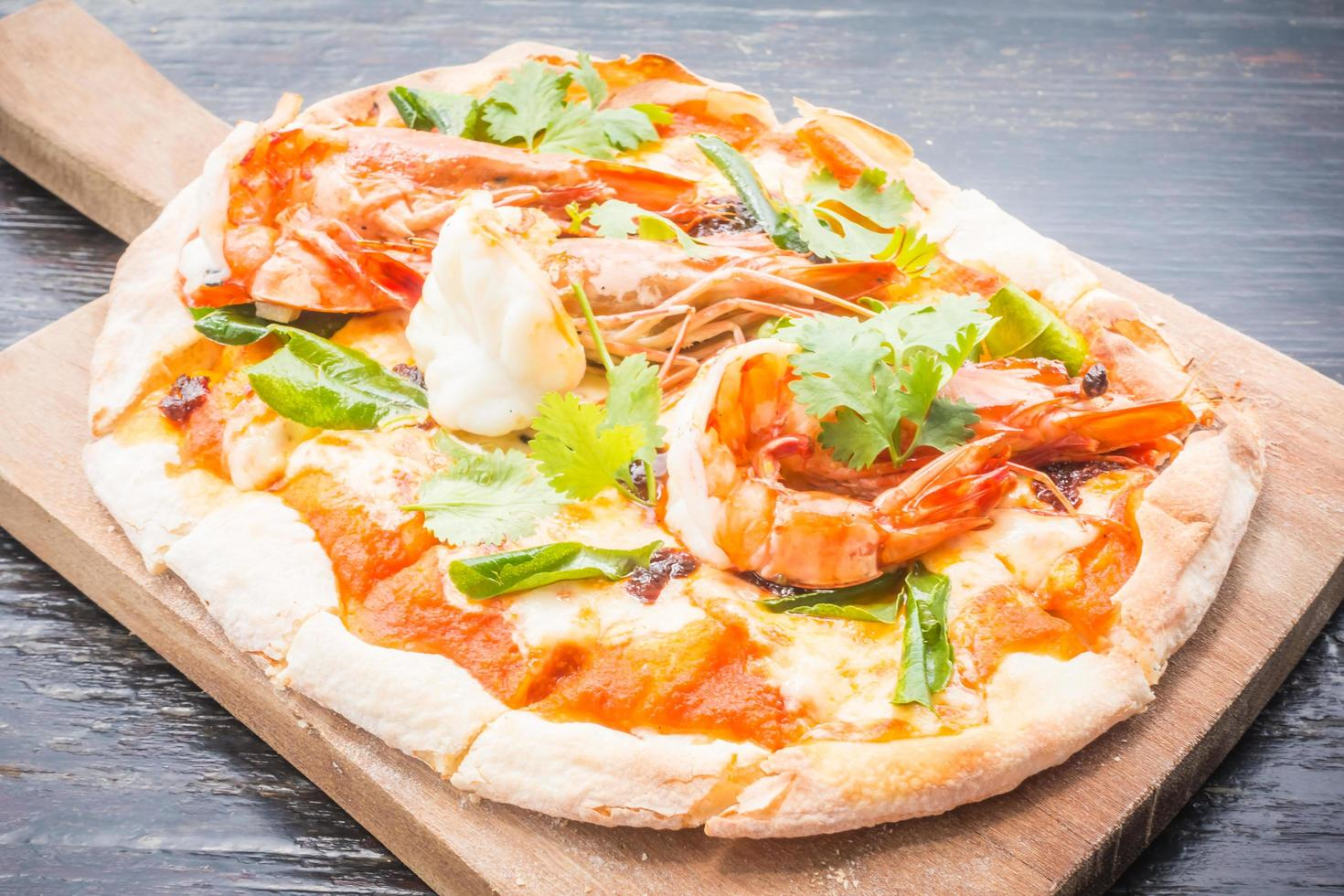 tom yum pizza foto