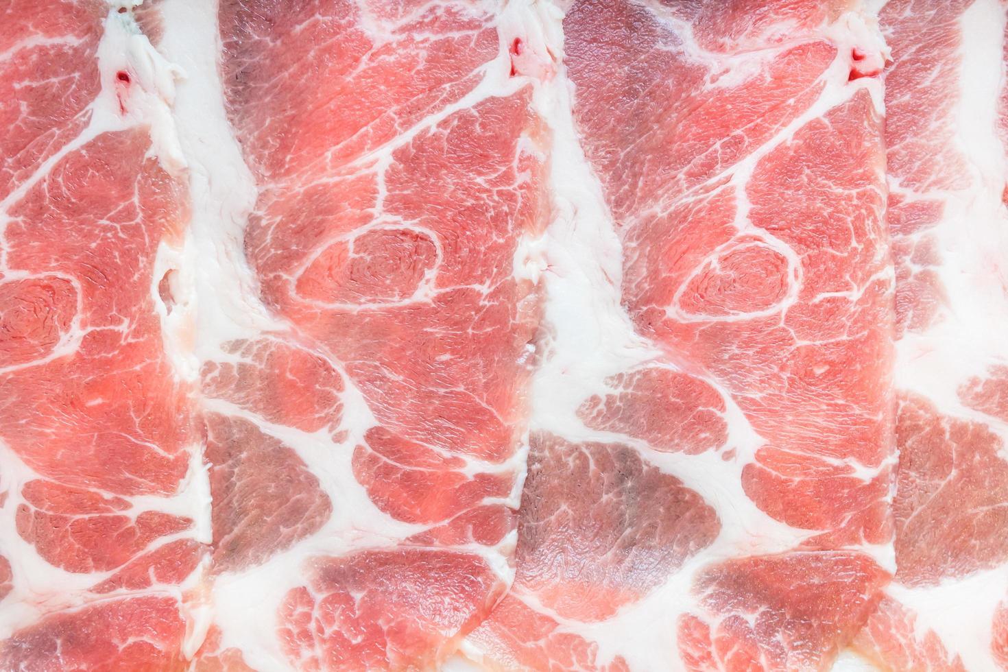 rauw varkensvlees foto