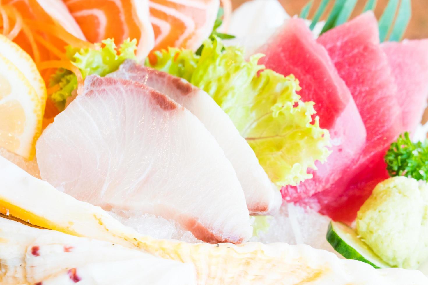rauwe en verse sashimi foto