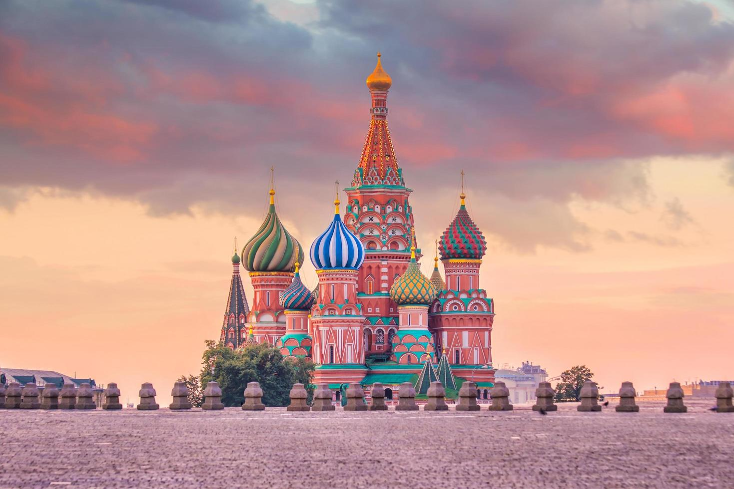 Basil's Cathedral op het Rode Plein in Moskou foto