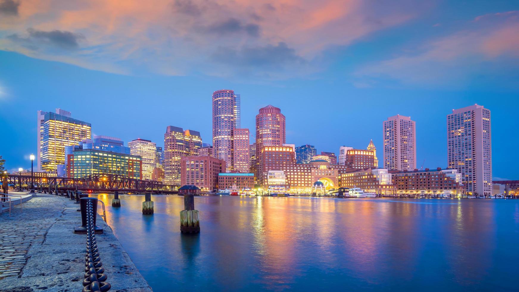 Boston skyline van het centrum van de stad usa foto