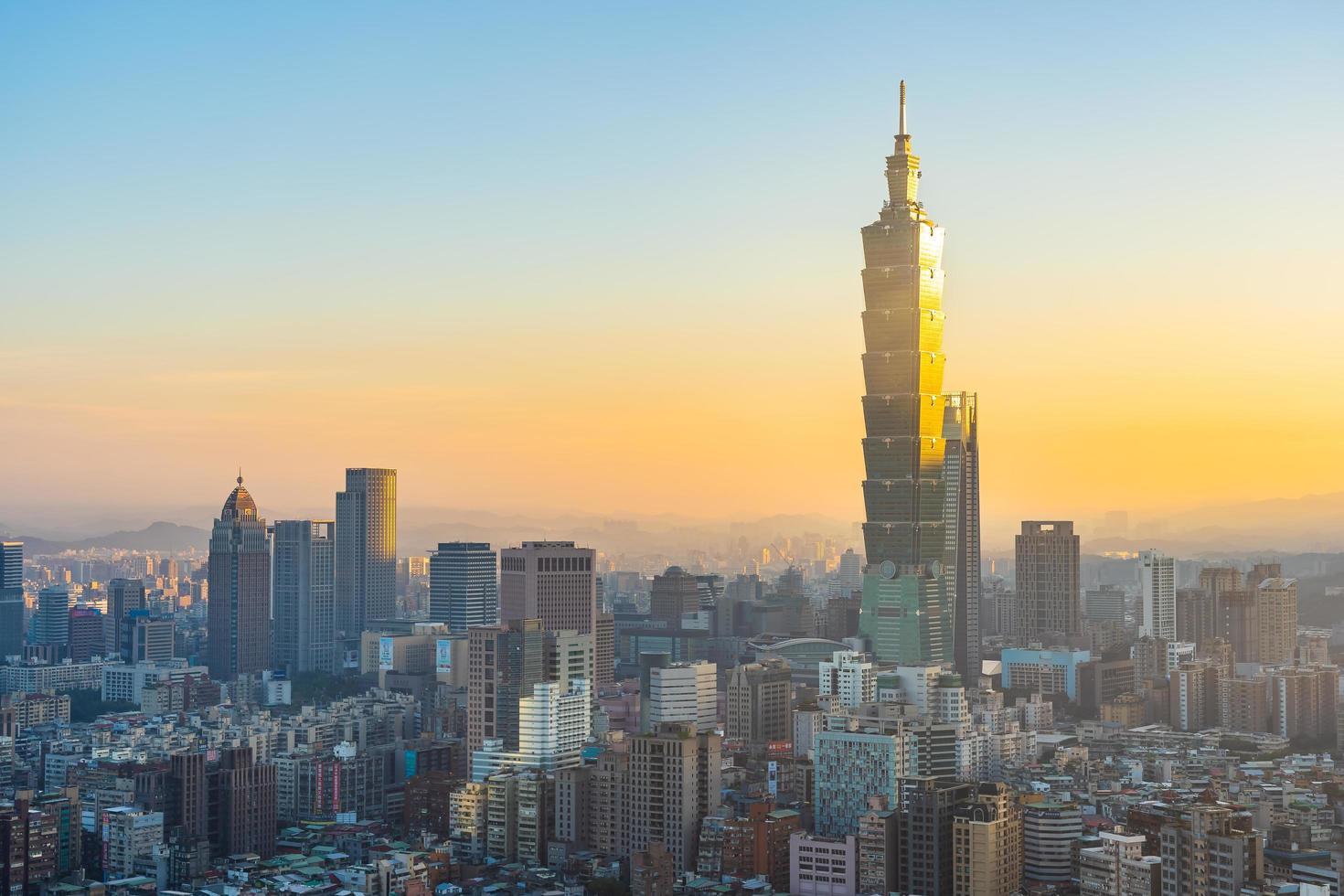 uitzicht op de stad van taipei in taiwan. foto