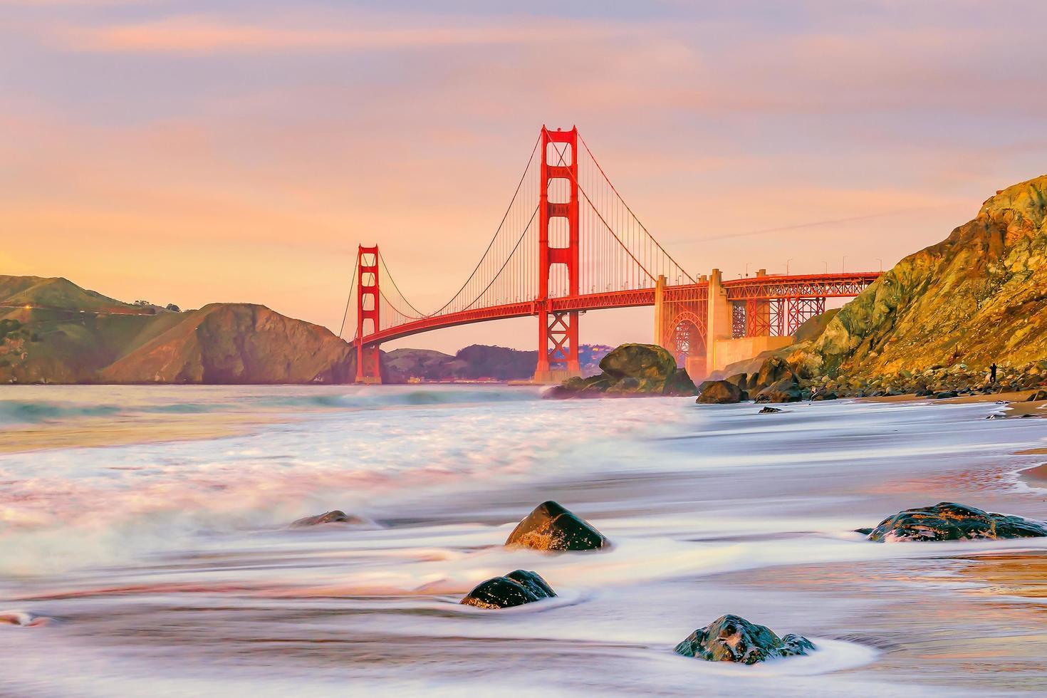 golden gate bridge in San Francisco, Californië foto