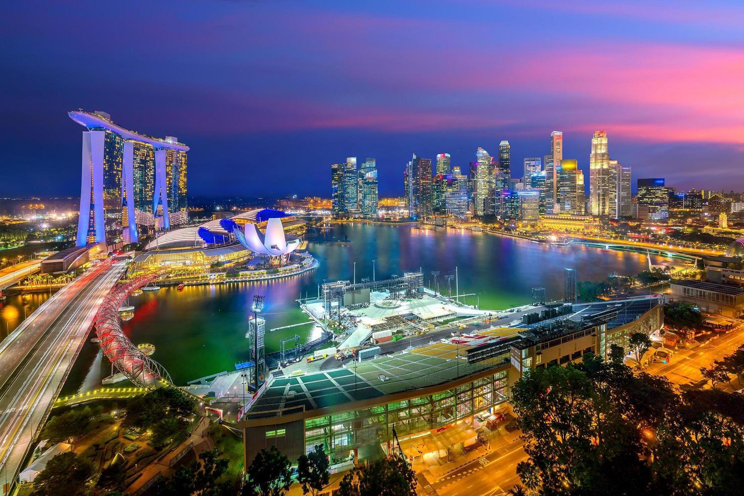 skyline van de binnenstad van singapore foto