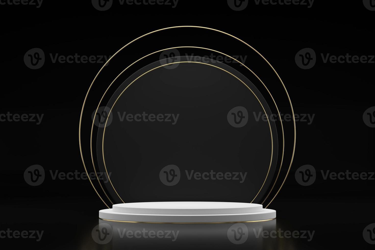 abstract wit podiumplatform, sjabloon voor reclameproduct, 3D-rendering. foto