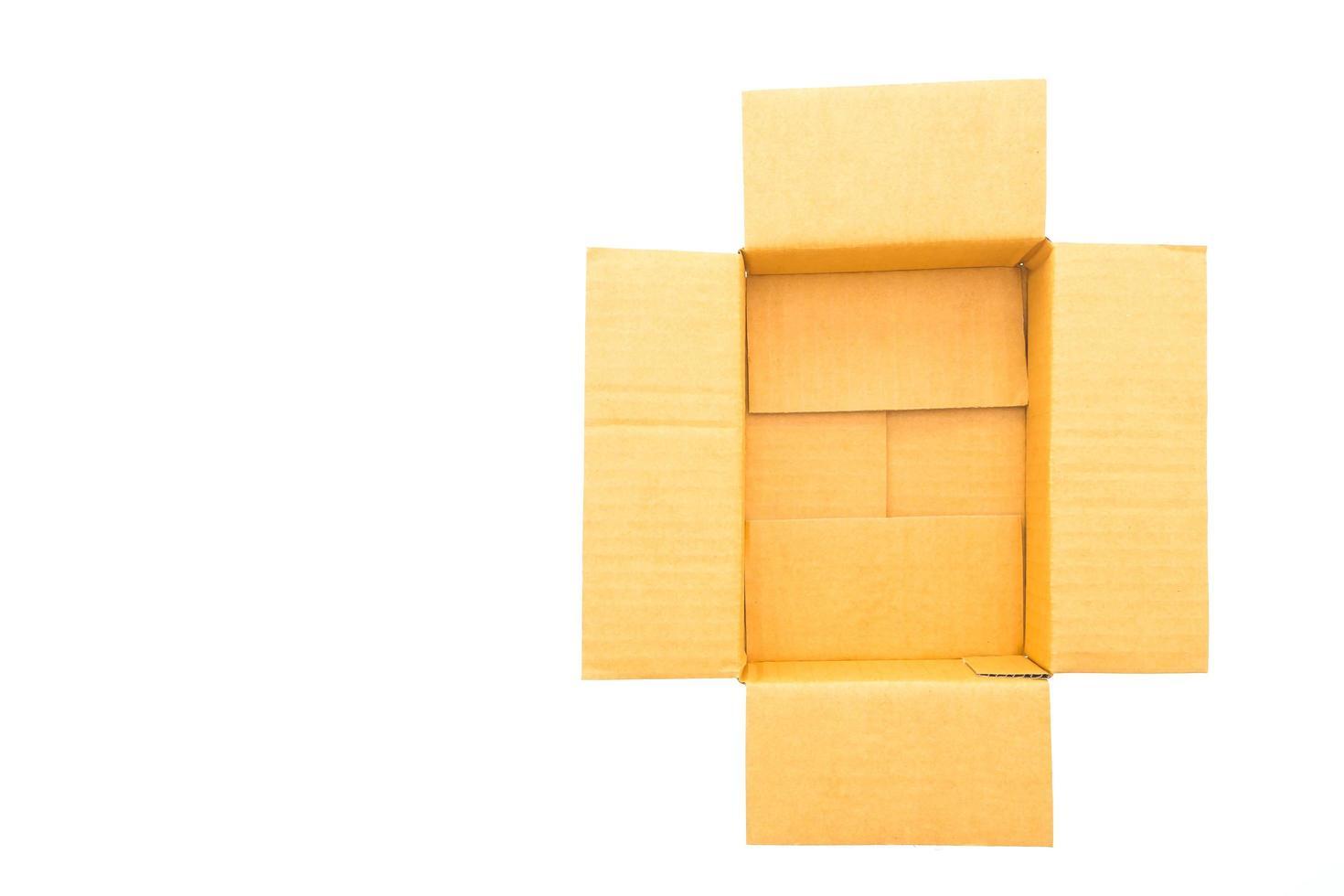 papieren doos geïsoleerd foto