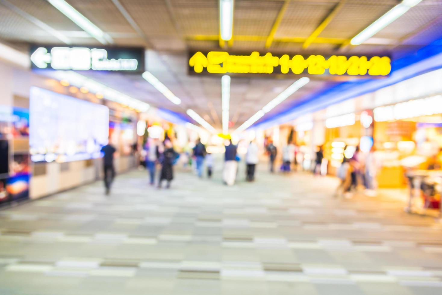 abstract luchthaven interieur achtergrond wazig foto