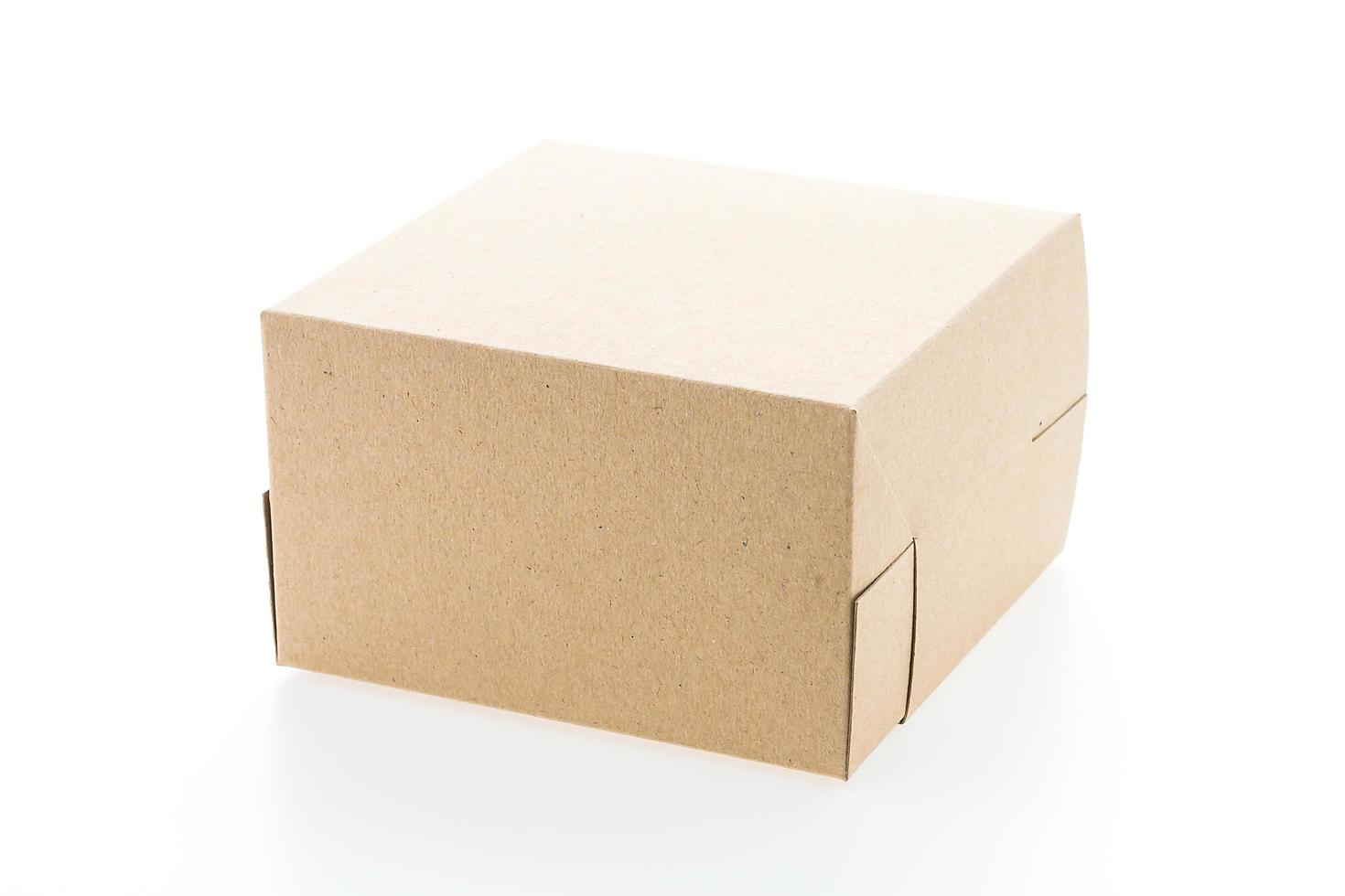 bruine papieren doos foto