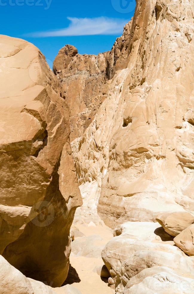 bergen in de woestijn foto