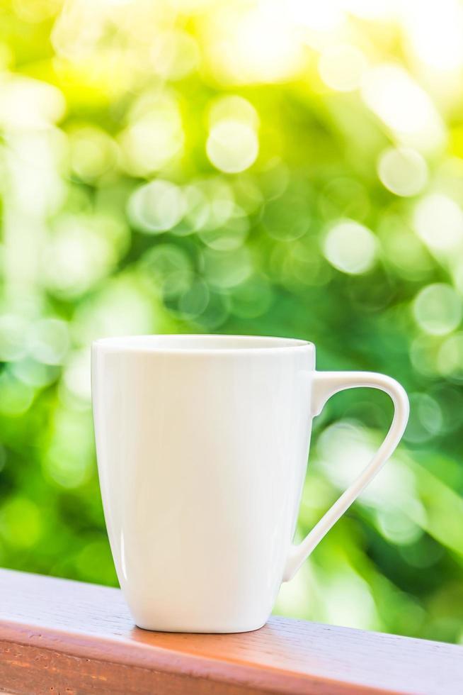 witte koffiekopje foto