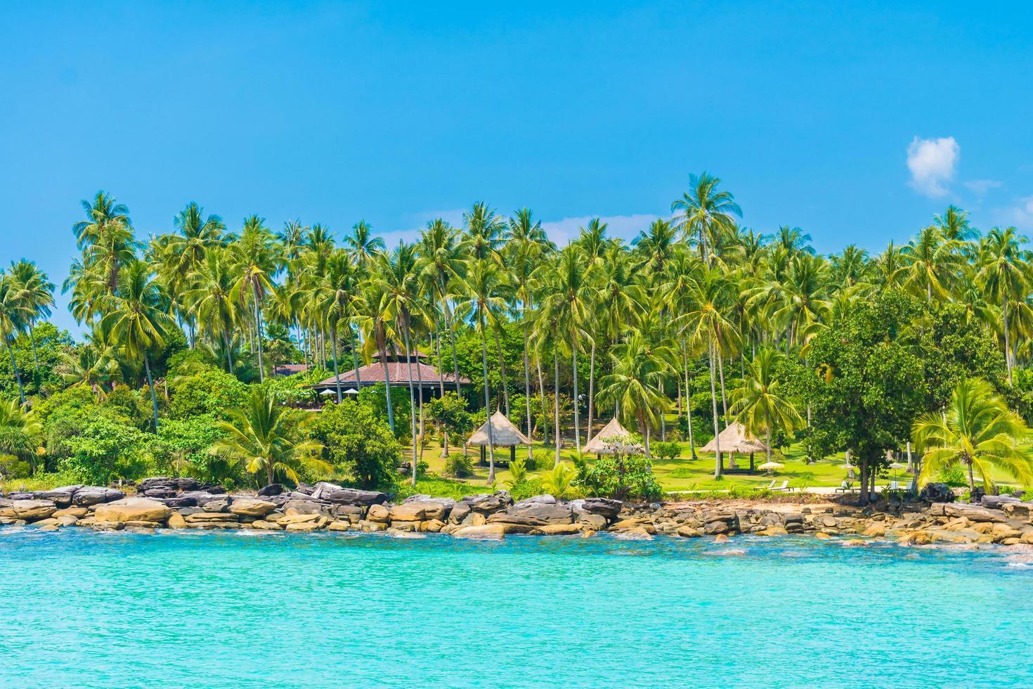 prachtig tropisch strand en zee foto