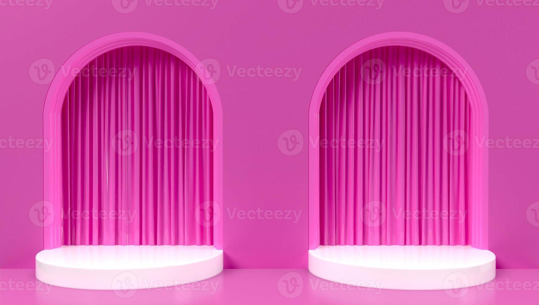 3D-weergave van twee roze bogen achtergrond foto