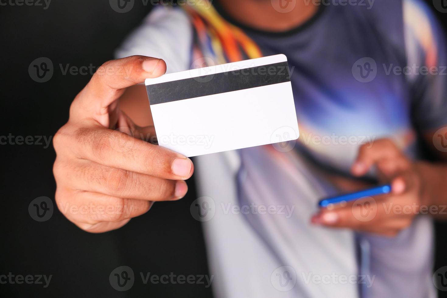 achterkant van een creditcard foto