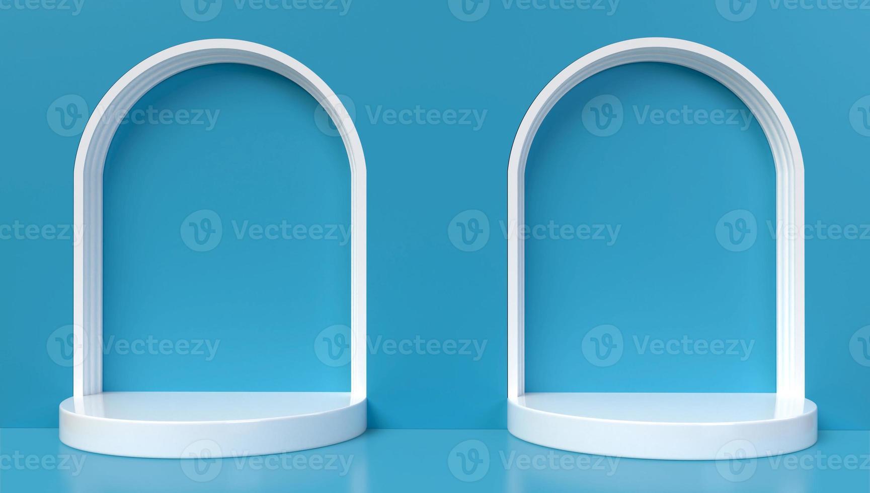 3D-weergave van 2 blauwe bogen foto
