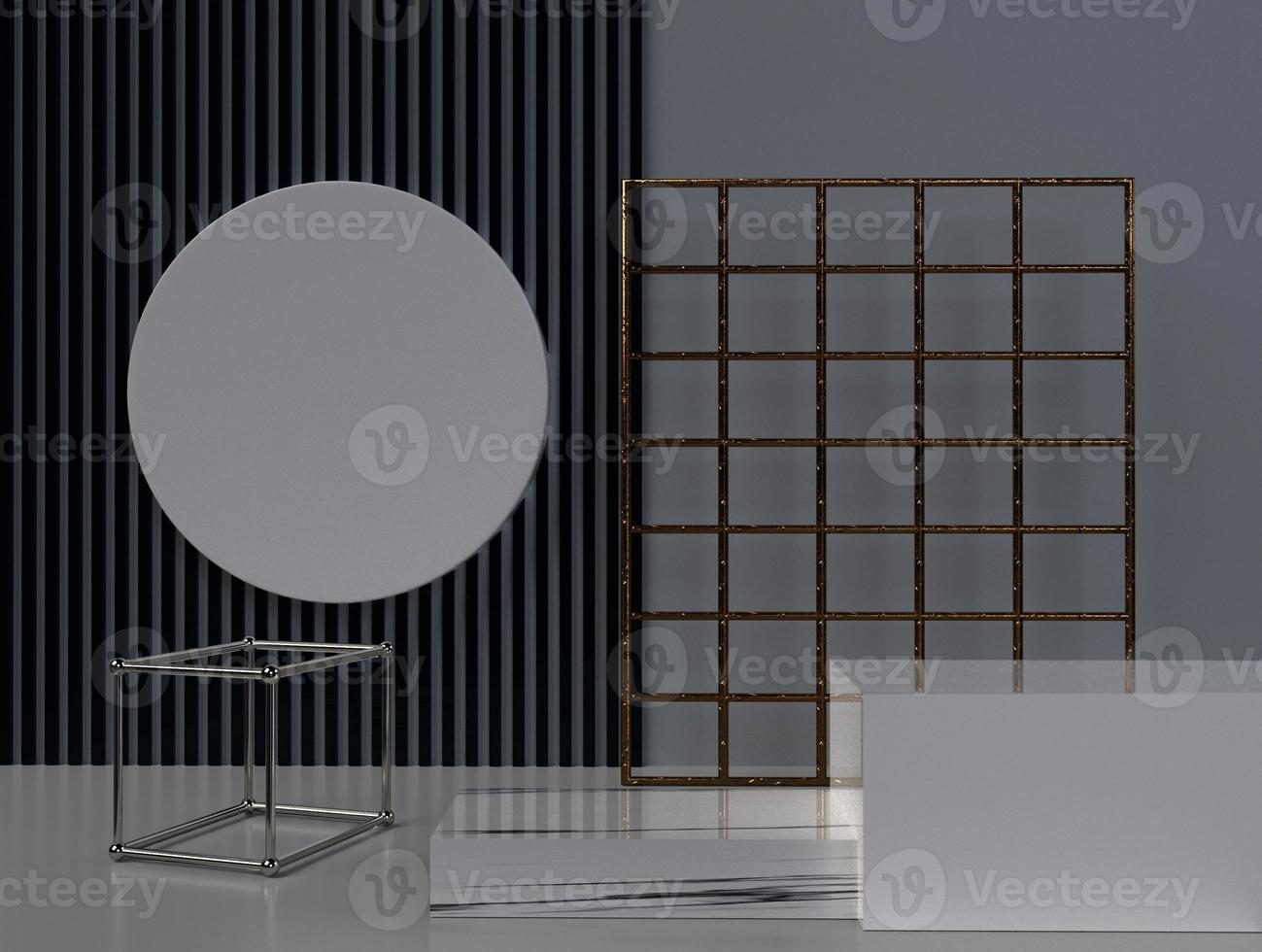 3D-rendering abstracte geometrische vorm achtergrond foto