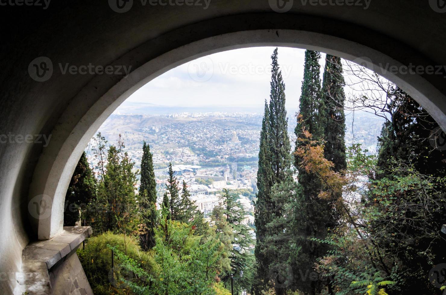 panorama van de stad Tbilisi foto